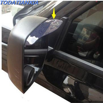 2020 hot 2pcs/lot car mirror rain eyebrow stickers for alfa romeo seat leon focus mk2 vw passat b5 bmw e36 e46 peugeot 307 407 image
