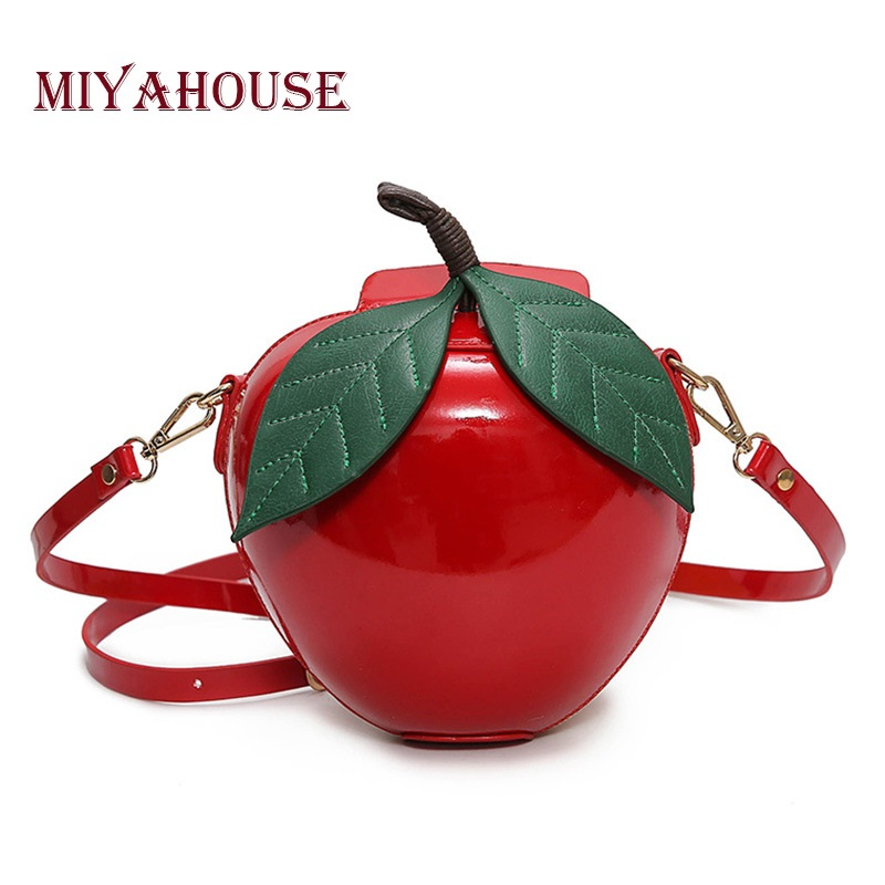 Prix pour Miyahouse Femmes Bandoulière Sacs Célèbre Marque Rouge Apple Sac Mode Femme Messenger Sacs Feuilles Mini Sacs pour Adolescent Filles
