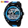 Skmei Marca Hombres Jóvenes Deportes Militar Reloj de Moda Casual de Vestir Relojes 2 Zona Horaria de Cuarzo Digital LED Relojes Nuevo 2016