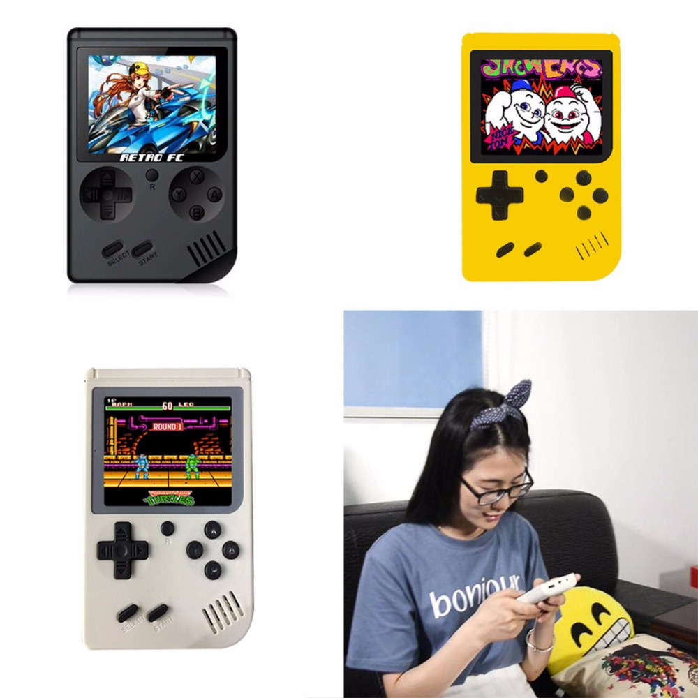 1 Pc/Box Portable Classic 8 Bit Built-in-168-Video-Game Handheld Came Console for Family Recreation and Party and Travel