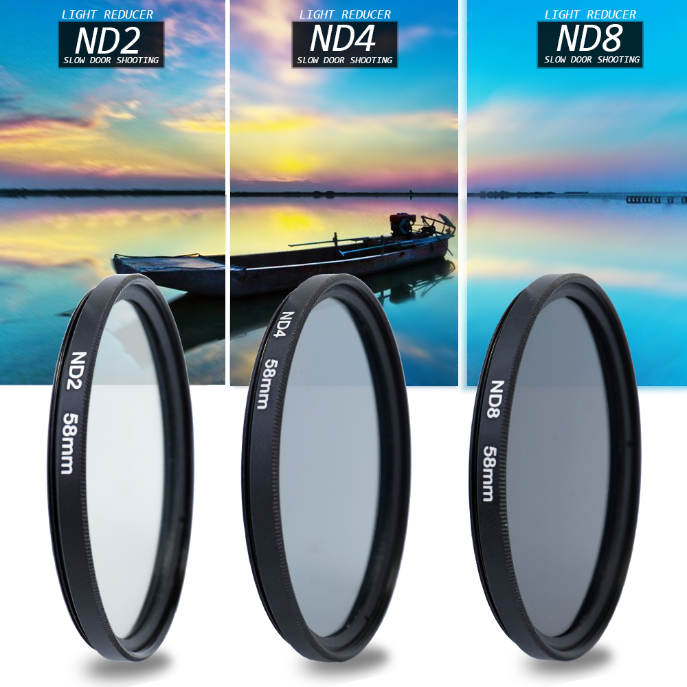Andoer 58/ 52mm Professional Vivitar UV CPL FLD Lens Filters Kit Lens Hood For Canon Camera Dslr Photography Accessories