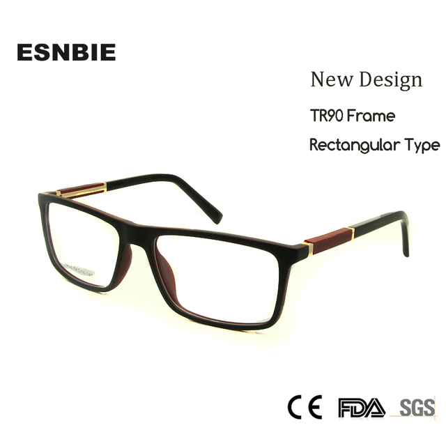 26ec202418a ESNBIE Rectangular Glasses frames Men TR90 Nerd oculos Greek Eyewear Frames  Men Clear Lens Women lentes opticos hombre