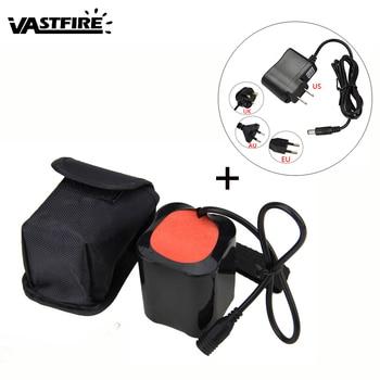 8.4 V 20000 mAh Baterai Pack Untuk T6 LED Light Bike Sepeda Headlight Torch Lamp Power Supply + Charger