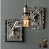 Retro Vintage Pendant Lights Clear Glass Lampshade Loft Pendant Lamps E27 90V 260V For Dinning Room