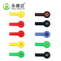 Colorful IEC banana 4.0mm adapter snap ekg accessories 10pcs/lot