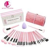 START MAKERS 32pcs Professional Beauty Makeup Brush Cosmetics Foundation Blush Makeup Brush Kit Women Make Up