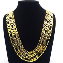 Массивные ювелирные изделия цепочка желтое золото заполненная