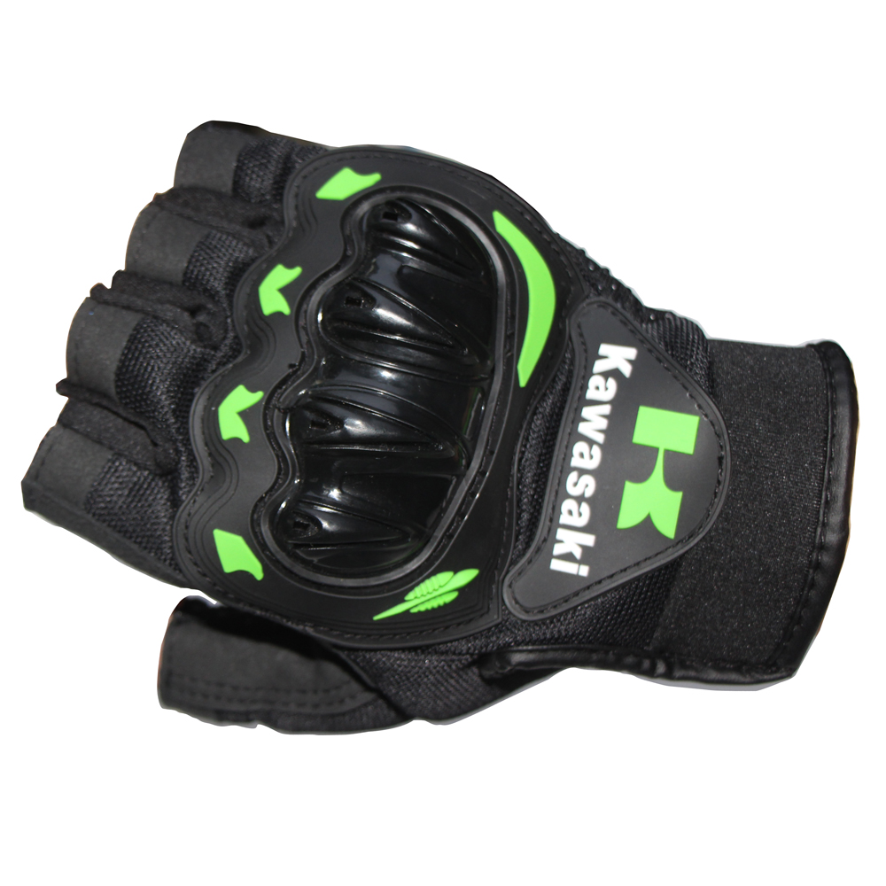 Motorcycle gloves price - Half Finger Motorcycle Gloves Motocross Luvas Guantes Green Color Protective Gears Racing Summer Glove For Men