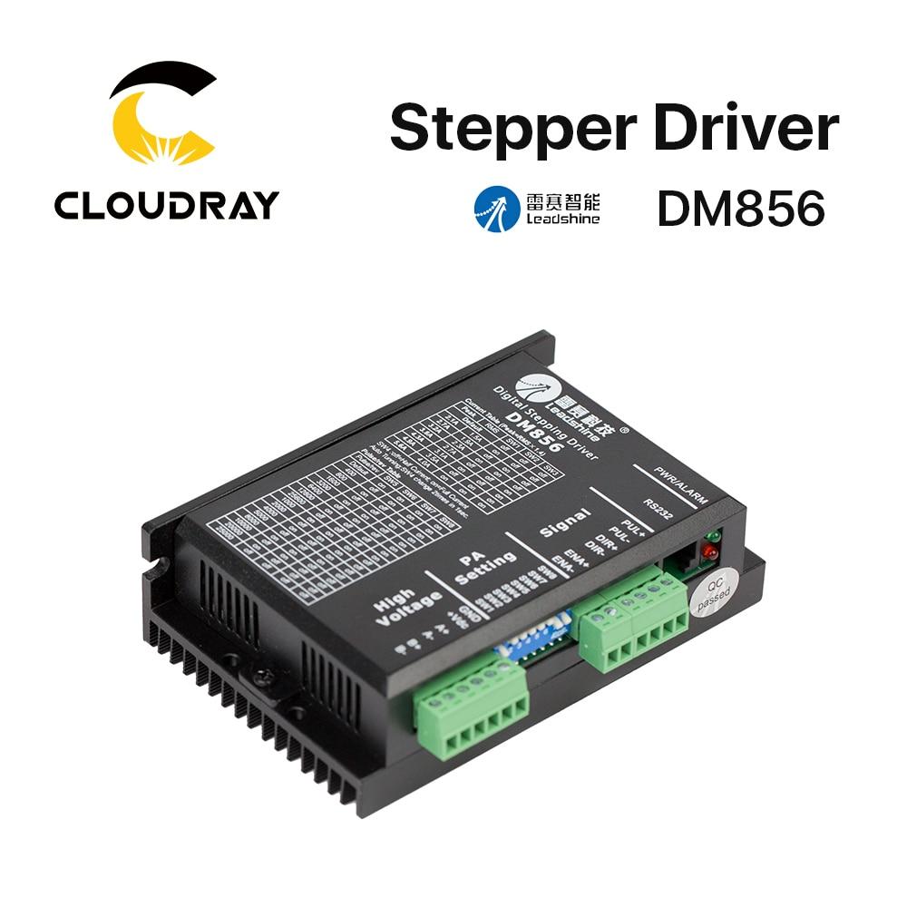 Cloudray Leadshine 2 Phase Stepper Driver DM856 20-80VAC 0.5-5.6A smartrayc leadshine 2 phase stepper driver dma860h 18 80vac 2 4 7 2a