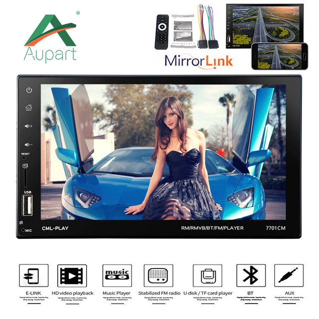 2 Din Car radio Mp5 7'' 2din Touch Screen autoradio HD Multimedia Player support android MirrorLink FM Stereo mp4 USB/AUX/BT