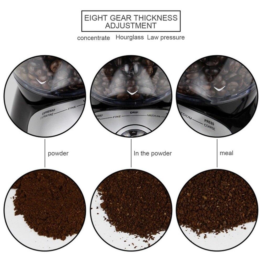 Profesjonalne domu młynek do kawy szlifierka elektryczna maszyna wyposażona w 420 ze stali nierdzewnej mielenie dysku ekspres do kawy 220-240V