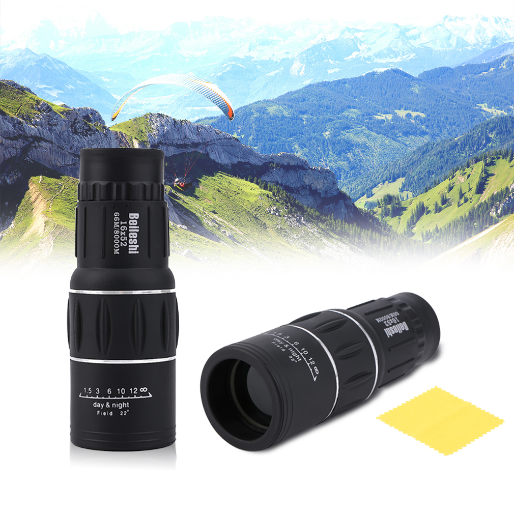 Monocular Telescope Lenses Focus-Optic Multi-Coating Outdoor 16X52 Dual 66M/8000M