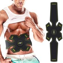Vibration Abdominal Muscle Trainer Rechargable Stimulator Body Slimming Shaper Machine Fitness Belt Unisex