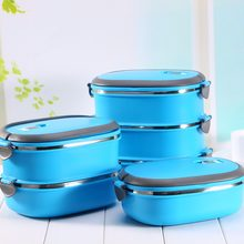 Stainless Steel Food Storage Box 1-3 Layer Japanese Bento Box Portable Thermal Lunchbox For Kids Picnic Food Container(China)