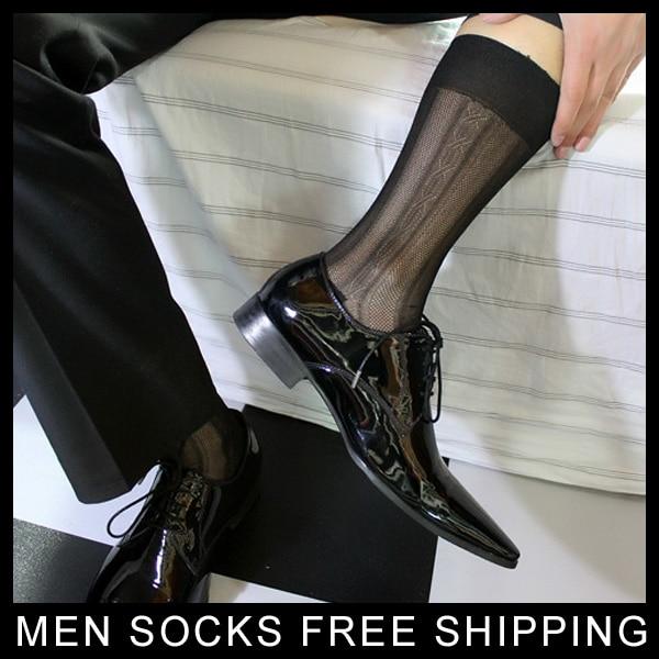 신사 실크 양말 쉬어 얇은 섹시한 Softy 슬립 남성 정장 드레스 실크 양말 게이 남성 섹시한 실크 양말 브랜드 양말