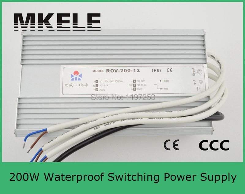 ФОТО 15v customized CE approved high quality waterproof LED power supply FS-200-15 13.3A led driver 200w switching power supply IP67