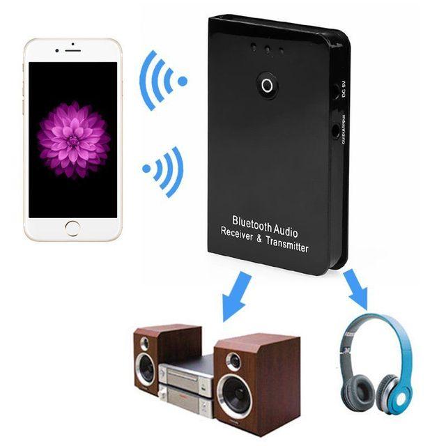 2In1 Функция Аудио Приемник Адаптер Передатчик Потокового Высокое качество Новый Черный Беспроводная Связь Bluetooth Хорошее Музыкальное Устройство