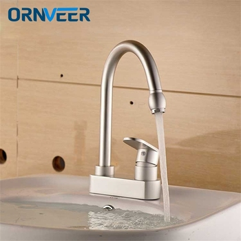 Free shipping / exquisite aluminum alloy faucet double hole installation
