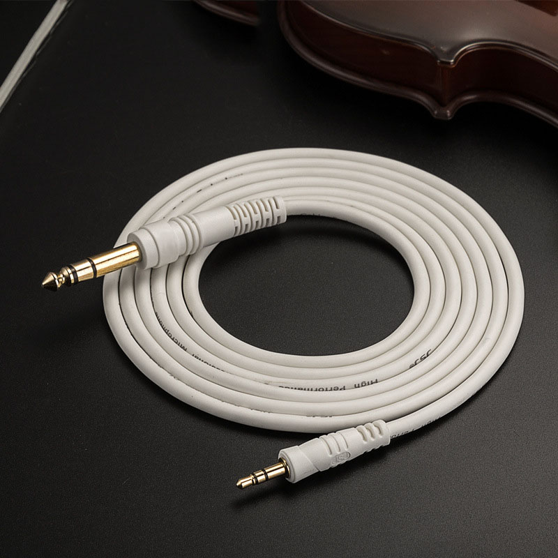 Aux Cable 3.5mm to 6.35mm Audio cable 3.5 mm to 6.35 mm 6.5mm Male To Male Mono TS TRS For Speaker Mixer Amplifier Guitar CD image