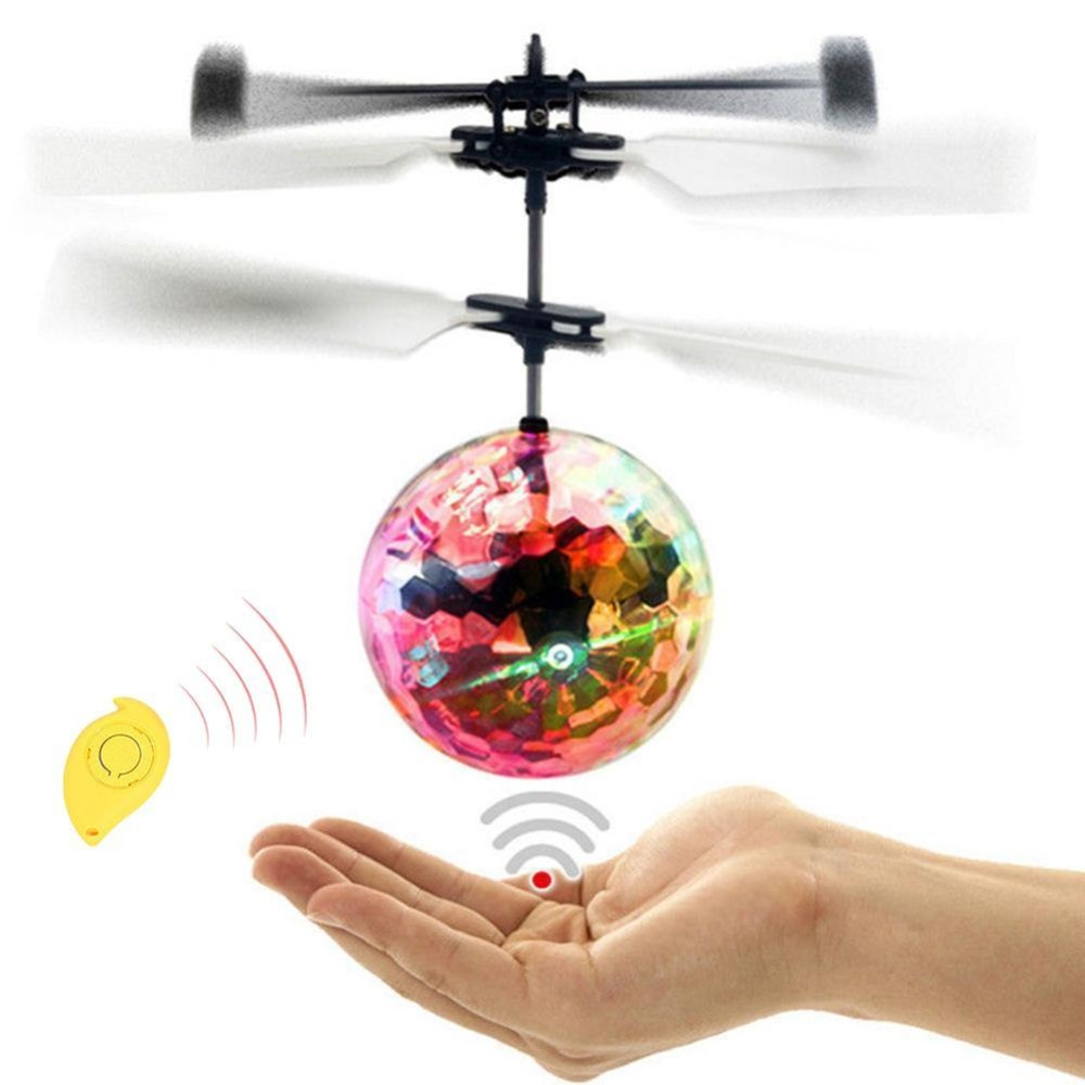 RC Flying Ball Remote Control Toys Luminous Fight Ball Magic Electronic Infrared Induction Aircraft LED Light Mini Helicopter
