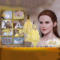 For Collection HOT TOYS 1/6 Scale MMS422 Beauty and the Beast Belle Emma Watson Full Set Action Figure for Fans Holiday Gift