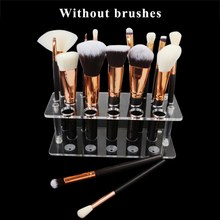 Make Up Brush 20 Hole Square Makeup Brush Holder Drying Rack Organizer Cosmetic Shelf Tool(China)