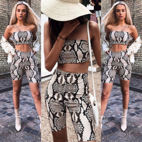 Womens Autumn Casual Shinny Tube Top Shorts Bodycon Two Piece Set Outfits Short Sport Jumpsuit Sets 2