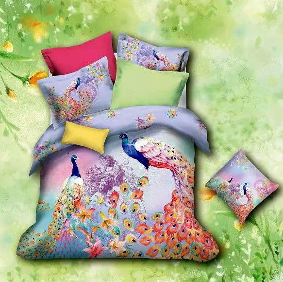 Peacock Bird Print Bedding Sets Queen Size Full Duvet Cover Designer Sheets  Bedspread Bed In A Bag Quilt Linen Bedsheet Cotton In Bedding Sets From  Home ...