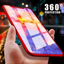 SK 360 Full Cover Phone Case For iPhone X 8 6 6s 7 Plus 5 5s SE Shockproof Protective Fundas For iphone XS MAX case With Glass(China)