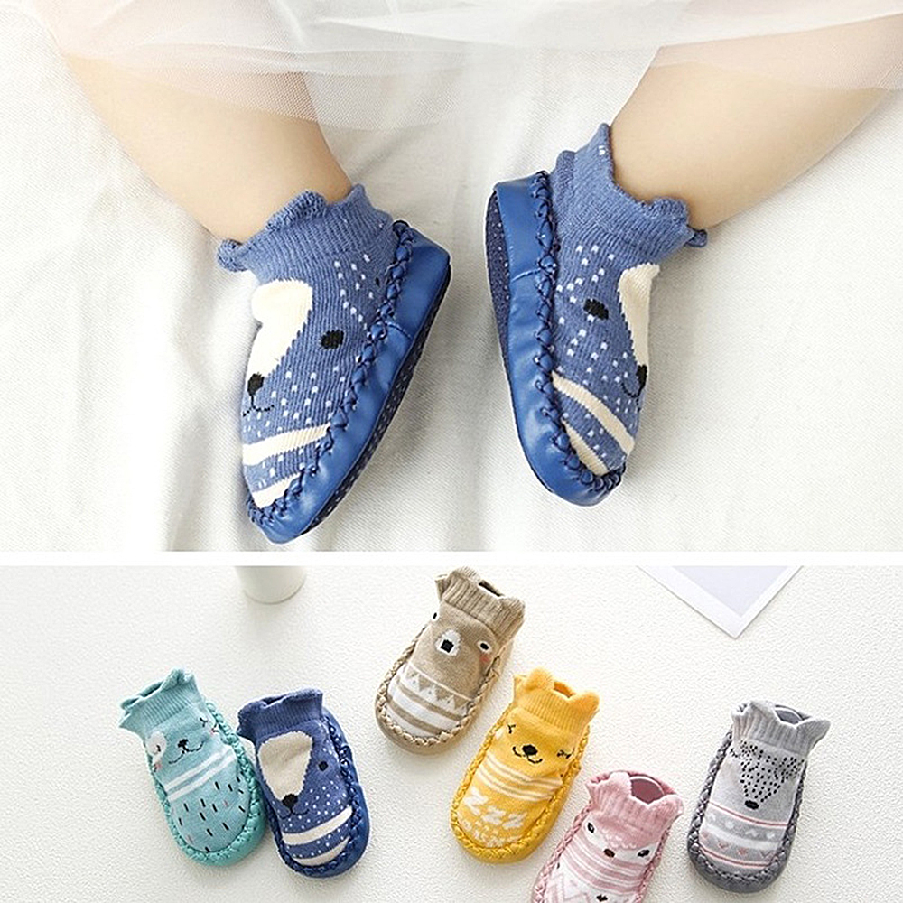 Drop Shipping CYSINCOS Baby Socks  Soft Bottom Non-Slip Floor With Rubber Soles Cartoon Animal Kids Boots Toddler  11-14cm