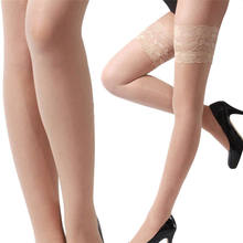 95af4318fb0 Thin Lace Long Stockings Women 4 Colors Sexy Stockings Hose Thigh High Knee Stockings  Slim Legs