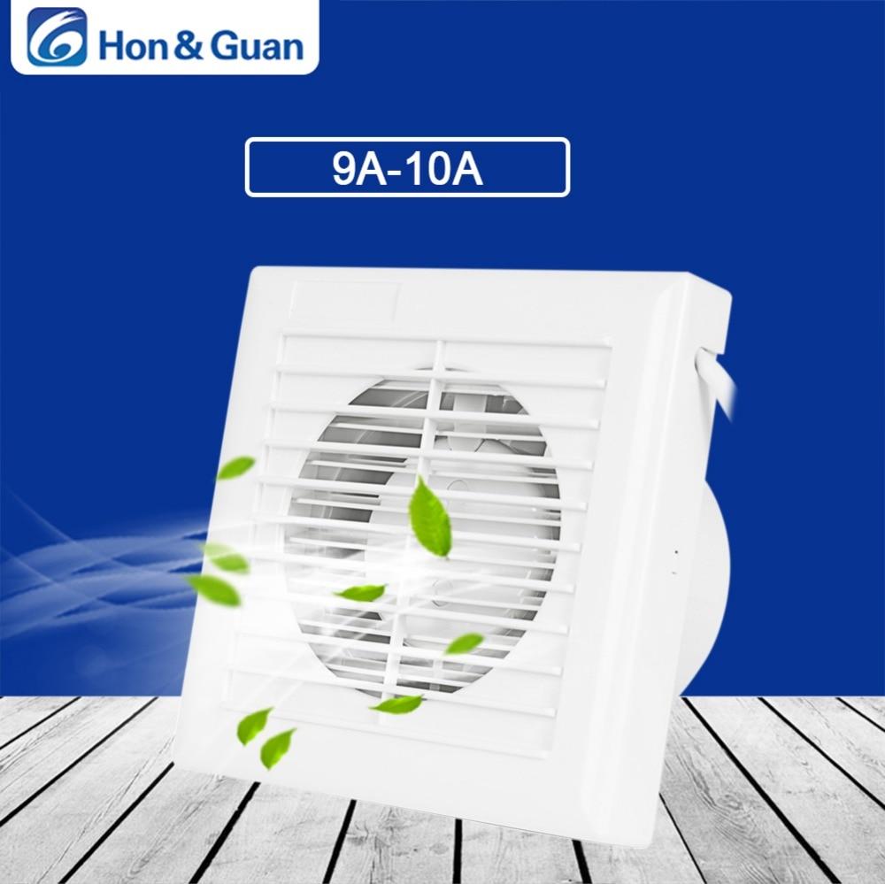 Hon&Guan 110V~240V 14W Home Ventilation Exhaust Fan Wall Mount Low Noise Home Bathroom Kitchen Air Vent Ventilation Fans hon