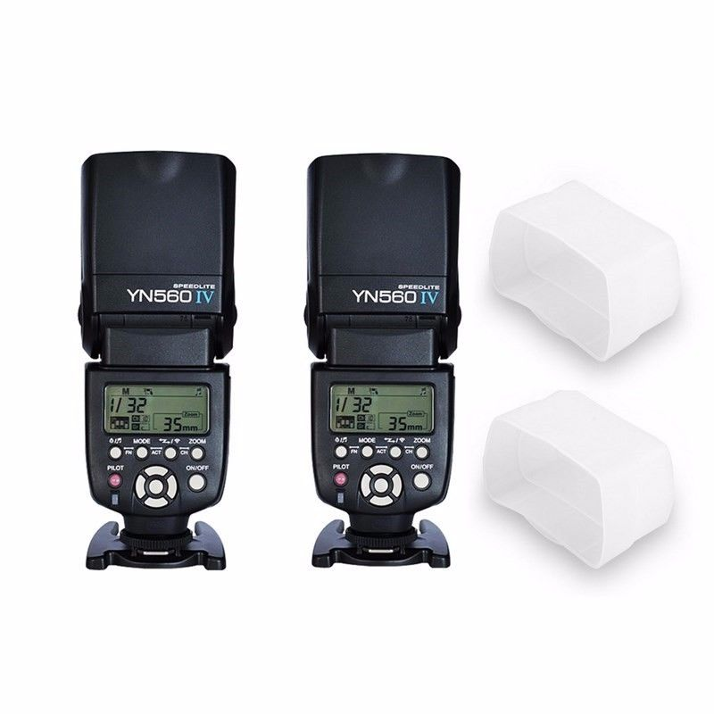 Yongnuo YN-560 IV YN560 IV Flash Speedlite for Canon Nikon Pentax Olympus DSLR 2pcs/lot цена
