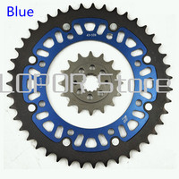 LOPOR Quality Set Motorcycle 43T Rear & 15T,16T,17T Front Sprocket kit For Kawasaki KLE500 KLE 500 B6F,B7F 2006 2007