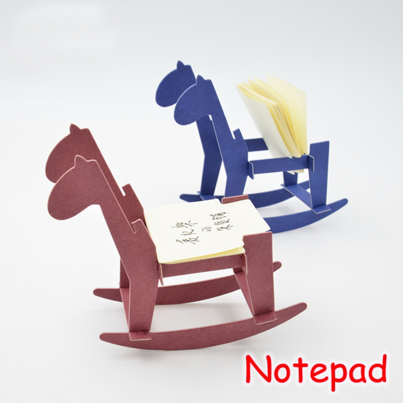 (10 Sets/Lot) Cute School Office Supplies Horse Novelty Notepads Mini Memo Pad Kawaii Post It Note UP-8604