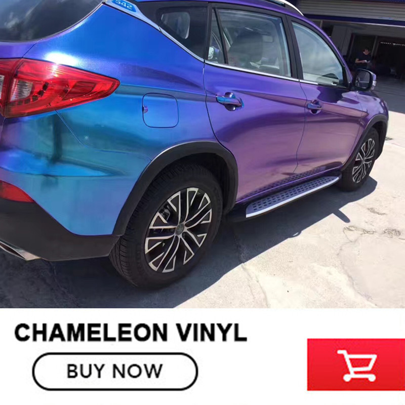 Premium quality 3 Layers Purple Blue Glossy Chameleon Diamond Glitter Vinyl Wrap Film Bubble Free For Auto Car decoration