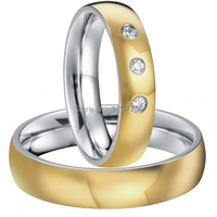 gold color heath titanium fashion rings wedding jewelry for men and women
