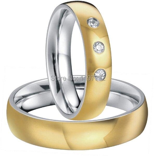 gold color heath titanium fashion rings wedding jewelry for men and women vnox titanium rings for women wedding jewelry elegant gold color pure titanium not allergic