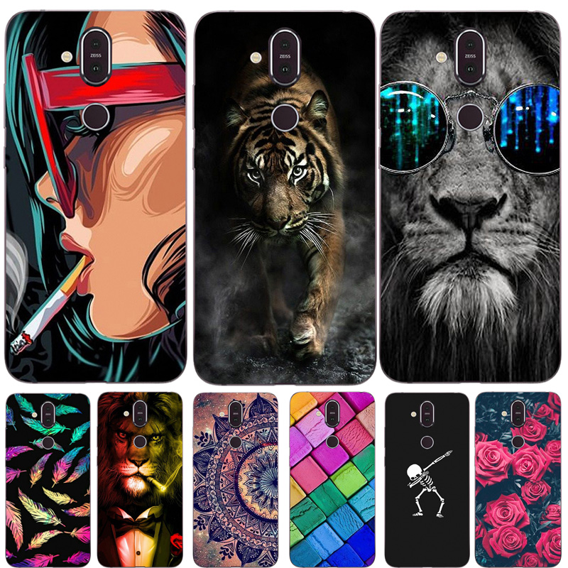 For <font><b>Nokia</b></font> <font><b>8.1</b></font> <font><b>Case</b></font> Soft TPU <font><b>Silicone</b></font> Cover Fashion Cartoon Phone <font><b>Case</b></font> For <font><b>Nokia</b></font> 7.1 Plus Back Cover For <font><b>Nokia</b></font> 7 Plus X7 7X Coque image