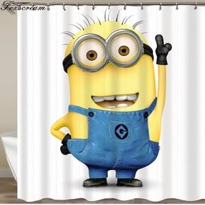 Image 4 - Cortinas para banheiro amarelas, cortinas de banho amarelas de poliéster à prova dágua, cortina ou tapete