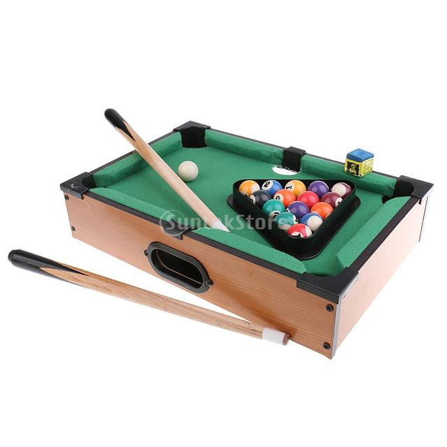 Genial Mini Tabletop Pool Table Desktop Billiards Sets Childrenu0027s Play Sports  Balls Sports Toys Xmas Gift Family