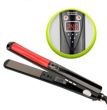 Buy Hairdressing tool electricity splint LED digital display MCH hot straightening temperature adjustment 1 inch ultra-thin electric