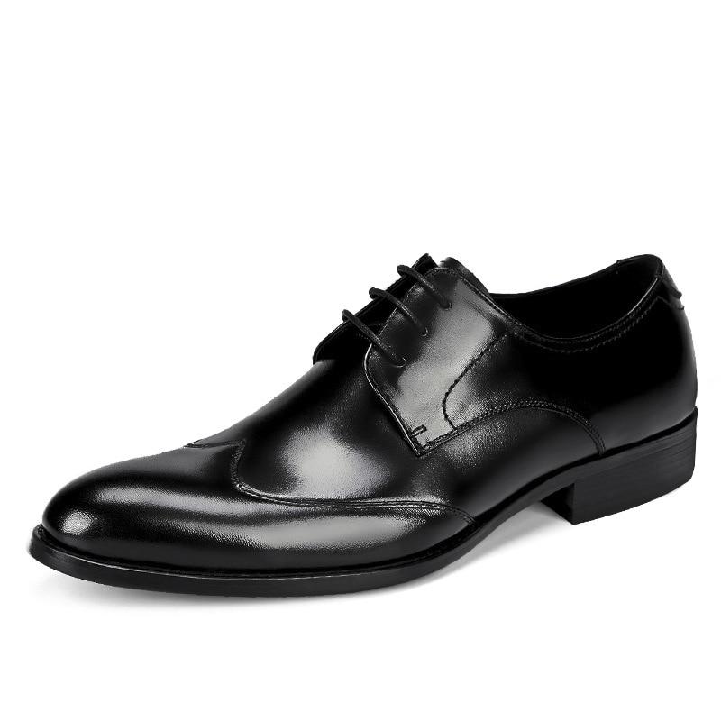 Noir Taille vin Rouge Robe Véritable Haute Homme En Plus La Chaussures Qualité British Hommes Cuir New Designer Fqw606