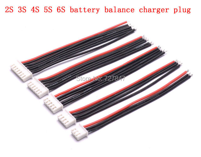10cm 100mm RC Lipo battery balance charger plug 2s 3s 4s 5s 6s cable for RC Helicopter 10 pcs