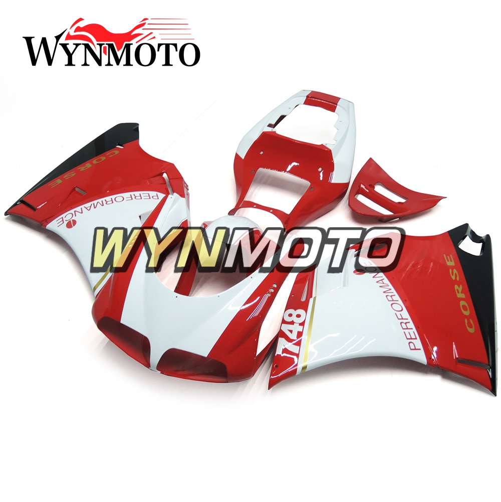Complete Motorcycle Red White Covers Fairings For Ducati 996 748 916 998 Biposto 1996 - 2002 ABS Plastic Fairings Kit Cowlings