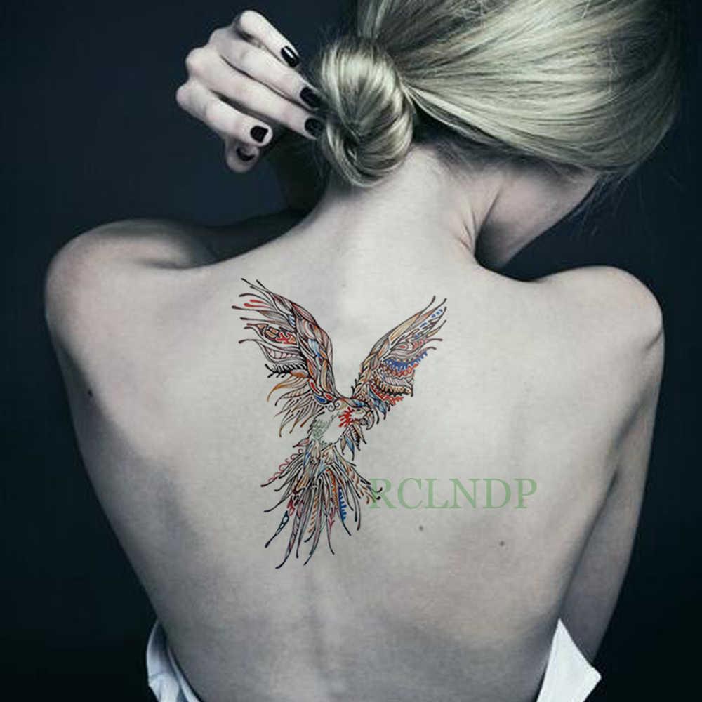 Aguila En La Espalda tatuaje temporal a prueba de agua pegatina águila colorida tatuaje falso  flash tatuaje para espalda y piernas brazo vientre tamaño grande para  mujeres