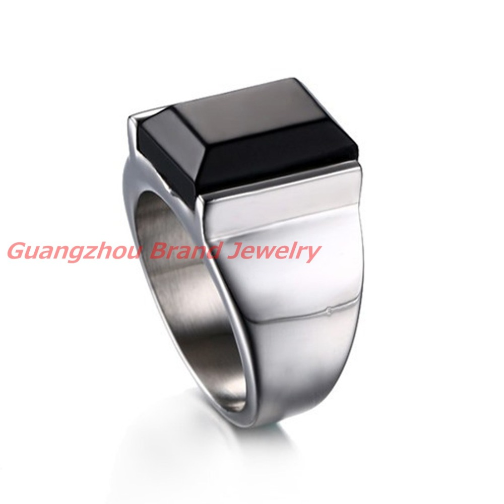 New arrive Silver and gold New design big stone ring for stainless ...