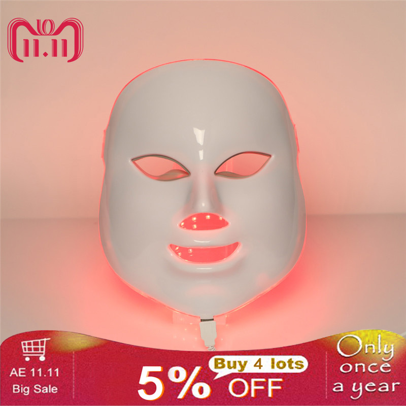 Face Massager Seven colors LED Rejuvenation beauty Mask instrument Home phototherapy mask Whitening, blemish, anti-wrinkle Acne