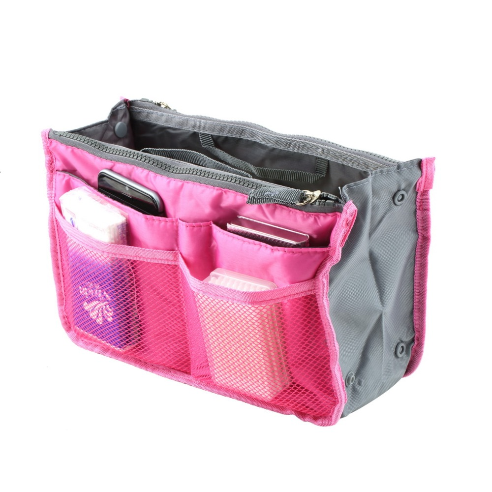 Waterproof Nylon Travel Storage Bags Women Multifunctional Cosmetic Makeup Bags Travel Phone keys Organizers Insert Handbags