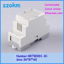 1 pcs/lot din rail plastic box enclosures electronics diy din rail box  36X87X60 MM